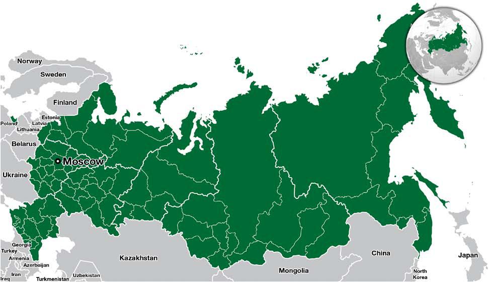 图1-1:俄罗斯地图