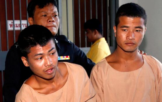 """但泰国警方坚称,他们没有捏造事实,两名缅甸工人是真正凶手。米勒家庭表示相信泰国警方的调查和取证工作。   网上公开数据 之后匿名者在攻击泰国警方网站后上传了一段时长37分钟的视频,。视频中匿名者指控泰国警方在龟岛杀人案件调查中没有彻查真相,执法不公正,并表示对此次攻击事件负责。受影响的网站包括曼谷大都会警察局、泰国皇家警察局等。黑客入侵服务器之后,在里面留下一条信息,信息的内容是""""法律不作为,我们要伸张正义,#BoycottThailand。""""匿名者指控泰国警方在执法调查过程中存在"""